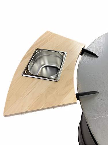 Tafel aansteektafel met roestvrij stalen kuip 60 cm voor vuurplaat 100 cm grillplaat grillring BBQ