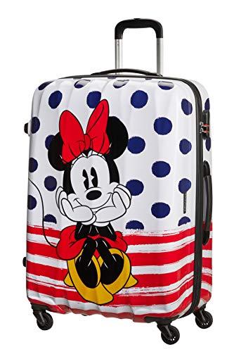 American Tourister Disney Legends Spinner 75 Alfatwist - Maleta infantil (75 cm), Minnie Blue Dots (Multicolor) - 19C*31008