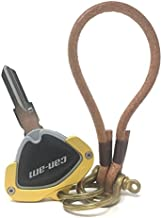 CRAZY METALMAN Key Holder for CAN AM Spyder F3 RT RT-S ST RSi Accessory Key Hole Cover Yellow with Light Leather Rope Ver3.0