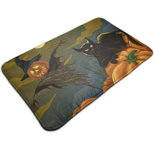 Halloween Indoor/Outdoor Flat Made of 100% Polyester Extra Soft and Non Slip Area Rug for Bedroom, Kitchen, Living Room, Office, Playroom 40x60 cm