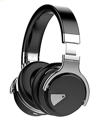 XUERUIGANG Auriculares de cancelación de ruido, auriculares inalámbricos a los auriculares Bluetooth, tiempo de juego 32H, audio de alta resolución, bajos profundos, tazas de orejas de espuma de memor