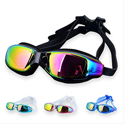 EGM Waterproof and Anti-UV Swimming Goggles Swimming Glasses Professional Swimming Pool Diving Glasses Adult HD Lenses