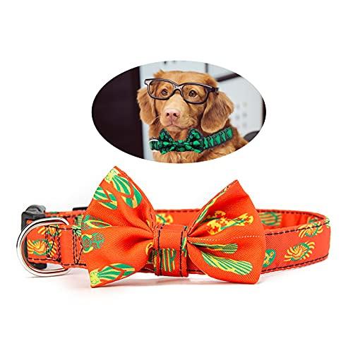 Cuteko Collar de perro para mascotas, collar con lazo, tamaño ajustable, apto para gatos y perros de 2 x 50 cm