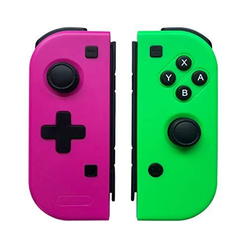 Manettes pour Nintendo Switch , WeJoy Pro Sans Fil Jeu Contrôleur pour Nintendo Switch - Rose Rouge (L) et Vert (R) (Production de tiers)