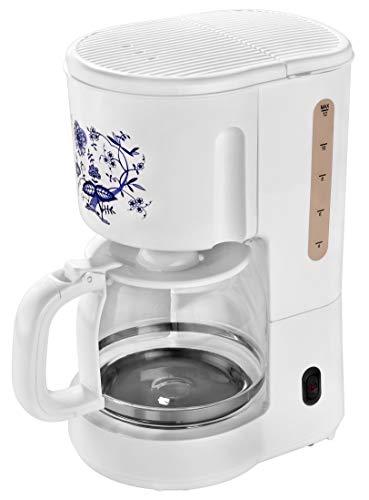 efbe-Schott SC KA 1080.1 ZWM Kaffeeautomat mit 1,5 Liter Glaskanne für 10-12 Tassen, 900, Kunststoff, 1.5 liters, Weiß/Zwiebeldekor