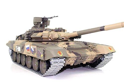 ES-TOYS Panzer Ferngesteuert mit Schussfunktion Russland T90 Heng Long 1:16 mit Rauch&Sound + 2,4Ghz - PRO Edition (Metallgetriebe, Metallketten und Metallräder) -V6.0