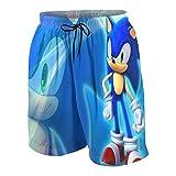Boys Teens Anime Cartoon Sonic The Hedgehog Swimwear Bath Custom...