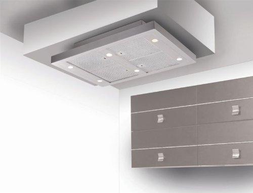 Silverline Vega AC integriertem Deckenmontage Edelstahl 750m³/h–Hauben (750m³/h, Rückgewinnung, 39dB, integriertem Deckenmontage, Edelstahl, 6Leuchtmittel (S))