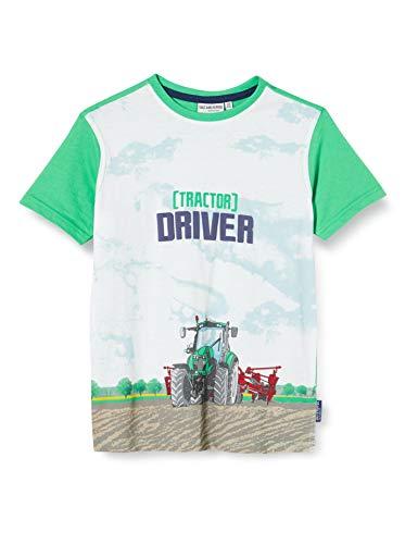Salt & Pepper Jungen 03112165 T-Shirt, Grün (Spring Green 655), 128 (Herstellergröße: 128/134)