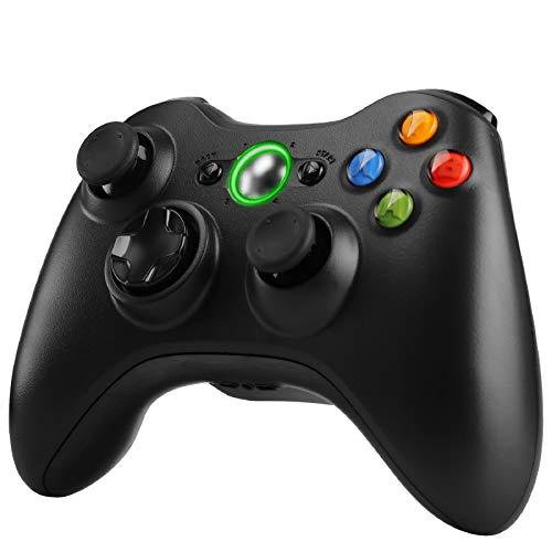 Zexrow Xbox 360 Controller, Wireless Game Controller di Gioco , design ergonomico per Microsoft Xbox 360 PC Windows 7/8/10 - Nero