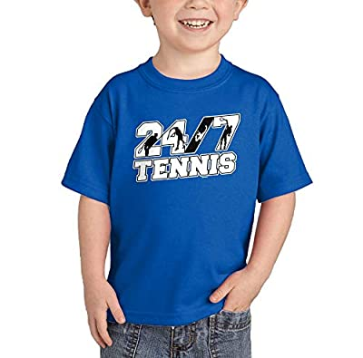 Haase Unlimited 24/7 Tennis - Future Athlete Infant/Toddler Cotton Jersey T-Shirt (Royal Blue, 4T)
