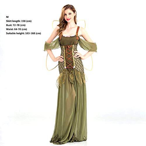 Halloween kostuum groene elf kostuum bos prinses engel kostuum DS bloem fee kostuum M Groen
