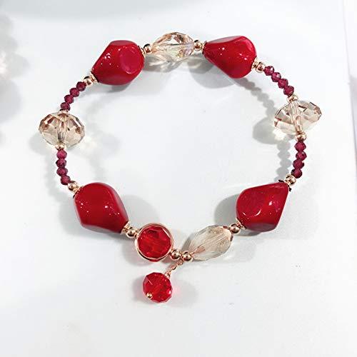 Oostenrijkse kristallen armband 14K goud jujube kralen armband dames meisjes niet vervagen mode hand sieraden