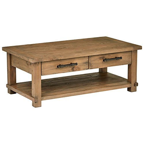 Stone & Beam Ferndale Rustic Coffee Table, 51'W, Sandstone