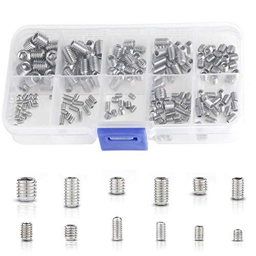 Set di 30 tasselli cilindrici in acciaio inox 304 Sourcingmap
