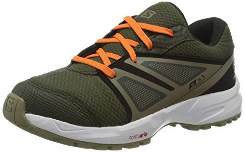 Salomon Kinder SENSE CSWP J Trail Running Schuhe, Farbe: grün (Forest Night/Black/Mermaid), Größe: EU 35
