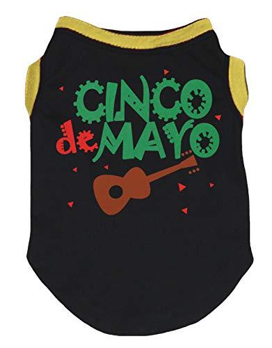 Petitebelle Cinco De Mayo Hemd für Hunde und Welpen aus Baumwolle