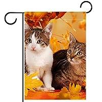 庭の装飾の屋外の印の庭の旗の飾り秋の装飾の2つの猫 テラスの鉢植えのデッキのため