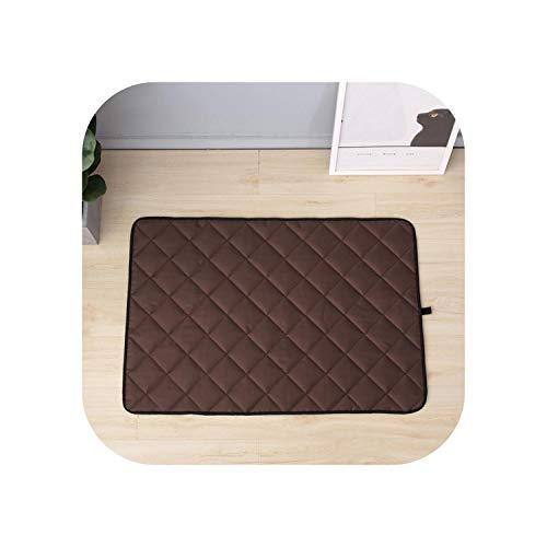 Big Incisor Bikini Cooling Mats| Pets Cooling Mat Waterproof Summer Bite Resistant Non Slip Oxford Cloth Dog Sleeping Pad Cooler Sofa Mats for Pet Tour Sleeping-Brown-L
