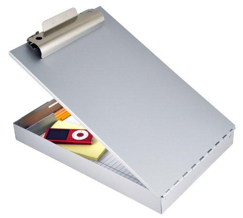 Läufer 31017 RediRite, stabiles Aluminium Klemmbrett auf Formularkassette, großes Innnenfach und Stiftefach, oben öffnend, silber, für DIN A4