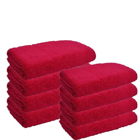 Atrivm Toallas hogar 100% algodón, más Suaves y absorbentes, esponjosas, te secan y se secan más rápidamente. Mejor relación Calidad-Precio (4 Toallas de Lavabo + 4 Toallas de Sábana, Fresa)