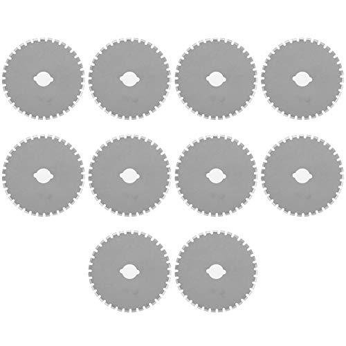 Herramienta de corte de tela, 10 piezas de 1,8 pulgadas, cuchillas circulares de repuesto de acero inoxidable para corte de papel de cuero y tela