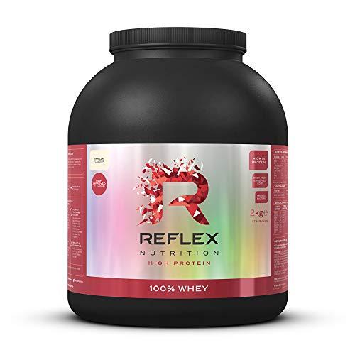 Reflex Nutrition 100% Whey Protein Powder Pure Whey Concentrate & Amino Acids Amazing New Taste No Added Sugar Protein Powder (Vanilla, 2kg)