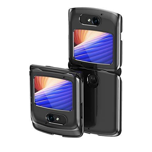 Hülle® Transparente Beschichtung Handyhülle Ultra Dünn Folable,Antikollisions,Komfortable Grip Full Protection Schild Kompatibel für Motorola Razr 5G/Motorola Razr 2 (1)