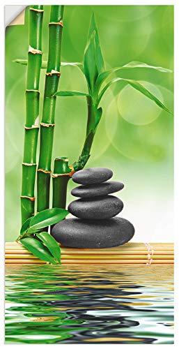 Artland Wandbild selbstklebend Vinylfolie 30x60 cm Asien Wellness Zen Spa Steine Bambus Entspannung Grün T5OP