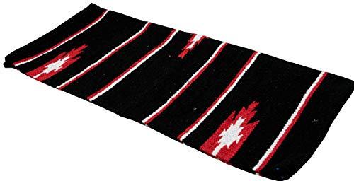 Reitsport Amesbichler AMKA Westernpad schwarz Pony Sattel Navajo Decke 26 x 26 Inch, 66 x 66 cm Western Satteldecke für Ponysättel Saddle Blanket