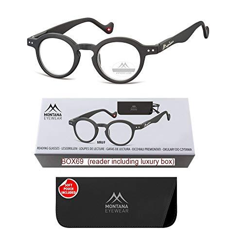 Montana Eyewear Lesebrille MR69- schwarz - +3,00 Dpt.