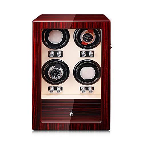Oksmsa Cajas Giratorias para Relojes Automatico, Reloj Mudo Giratorio, Madera Bobinadora para Relojes, Cojín De Reloj Ajustable, 6 U 8 Reloj Adecuado (Size : B)