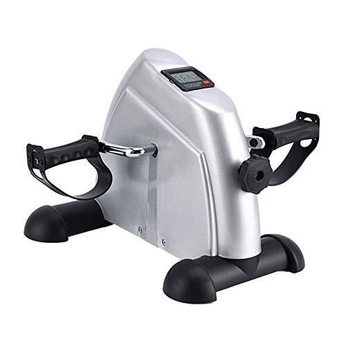 FXMJ Mini Bicicleta estática magnética, operación del Pedal de la Mini Bicicleta estática Pedal de Ciclo con Monitor LCD y Vuelo para el Ejercicio de Office y housec con Alivio Antideslizante