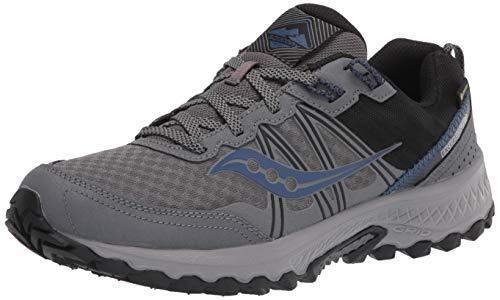 Saucony Men's Excursion TR14 GTX Trail Running Shoe, Charcoal/Storm, 12