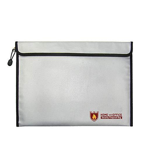 Coil.c 38 × 28 cm zilver wit aktetas, waterdichte vuurvaste tas, veiligheidsdocumentenset, kantoor en reis