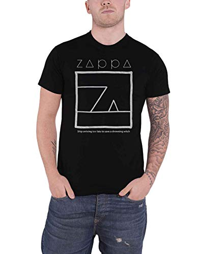 Frank Zappa T Shirt Drowning Witch Logo Nue offiziell Herren Schwarz
