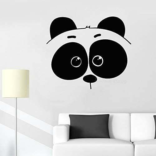 yaonuli Panda Kopf Wandaufkleber Schlafzimmer Vinyl Wandtattoo Kinderzimmer abnehmbare Bär Aufkleber 63X94cm