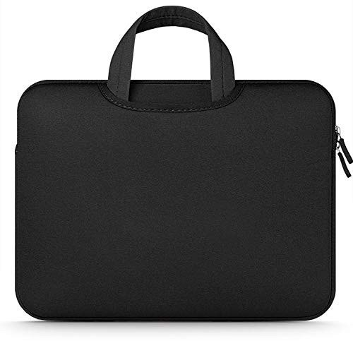 """Tech-Protect Airbag Sleeve Case for 11-12 inch Notebook, Protective Case Soft Carrying Computer Zipper Bag Cover Compatible with 11-12"""" Laptop, Black"""