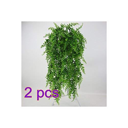 Plantas artificiales, hiedra artificial, plantas colgantes de flores de helecho de Boston, plantas de plástico resistentes a los rayos UV,sala de estar, decoración, tamaño 2 unidades