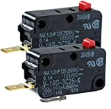 (Pack of 2) Microwave Oven WB24X10038 WB24X10076 GSM-V1603A2 28QBP0497 Micro Switch FA63