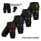 Cyclisme VTT Short, Cool-Max rembourré, Doublure intérieure Amovible, Off Road de qualité de Cyclisme pour Homme - L -...