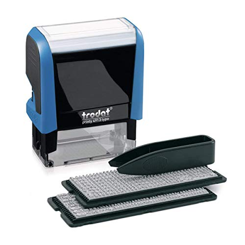 Trodat 4913 Printy - Timbro autoinchiostrante con set di lettere da disporre liberamente