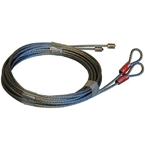 New MSPowerstrange Two Garage Door Cables 1700 lb Breaking Strength for Torsion Spring 12' Long Door...