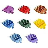 8 clips de corte de pelo universales profesionales para cortar el pelo, 8 clips de corte de pelo portátiles de tamaño guía son muy adecuados para peluqueros y peluqueros profesionales (color color).