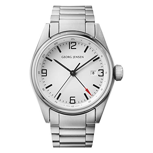 Georg Jensen Orologio da uomo der Superlative GMT numero 3575596Delta Classic 43mm * prezzo consigliato & # x20AC; 850,