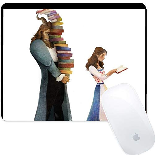 DISNEY COLLECTION Mouse Pad Rectangle Mouse Pad The Beauty Who Reads and The Beast Who Holds The Book Protective