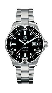 Tag Heuer Men's Aquaracer Calibre 5 Stainless Steel Black Dial Watch #WAN2110.BA0822 image