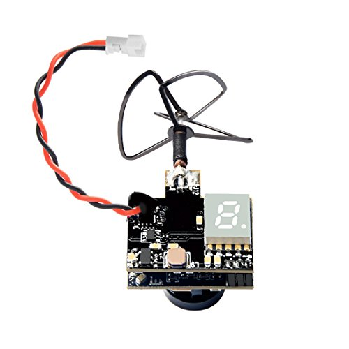 Wolfwhoop WT03 Micro FPV AIO 600TVL Camera 5.8G 25/50/200mW Adjustable Transmitter with Cloverleaf Antenna for Mini Aircraft
