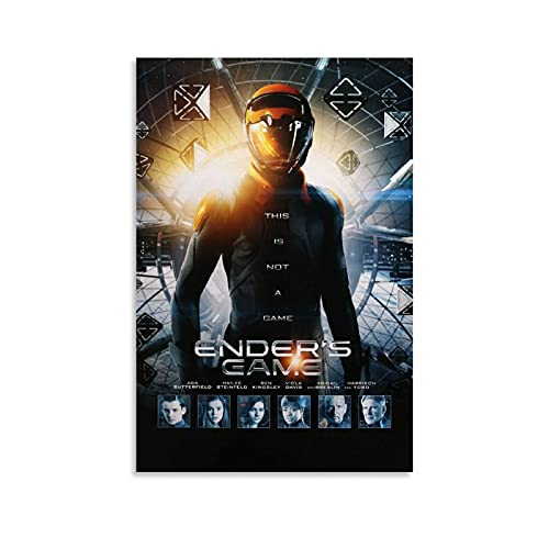 guoke ENDER'S Game (2013) Vintage Classic Movie Poster Decorative Painting Canvas Wall Art Living Room Poster Bedroom Picture Print Aesthetic 08x12inch(20x30cm)