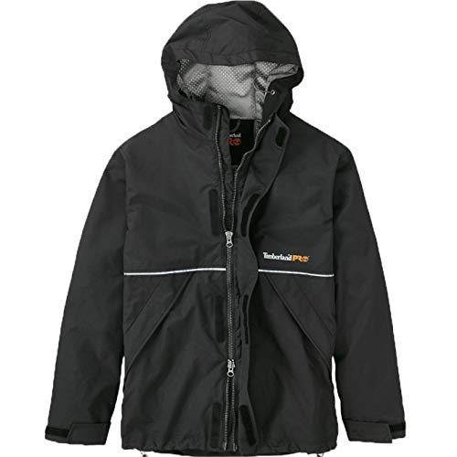 Timberland PRO Men's Fit-To-Be-Dried Waterproof Jacket, Jet Black, Large